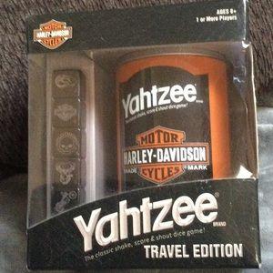 NWT Harley Davidson Yahtzee travel edition game